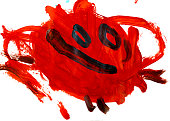 Cheerful Red Little Monster
