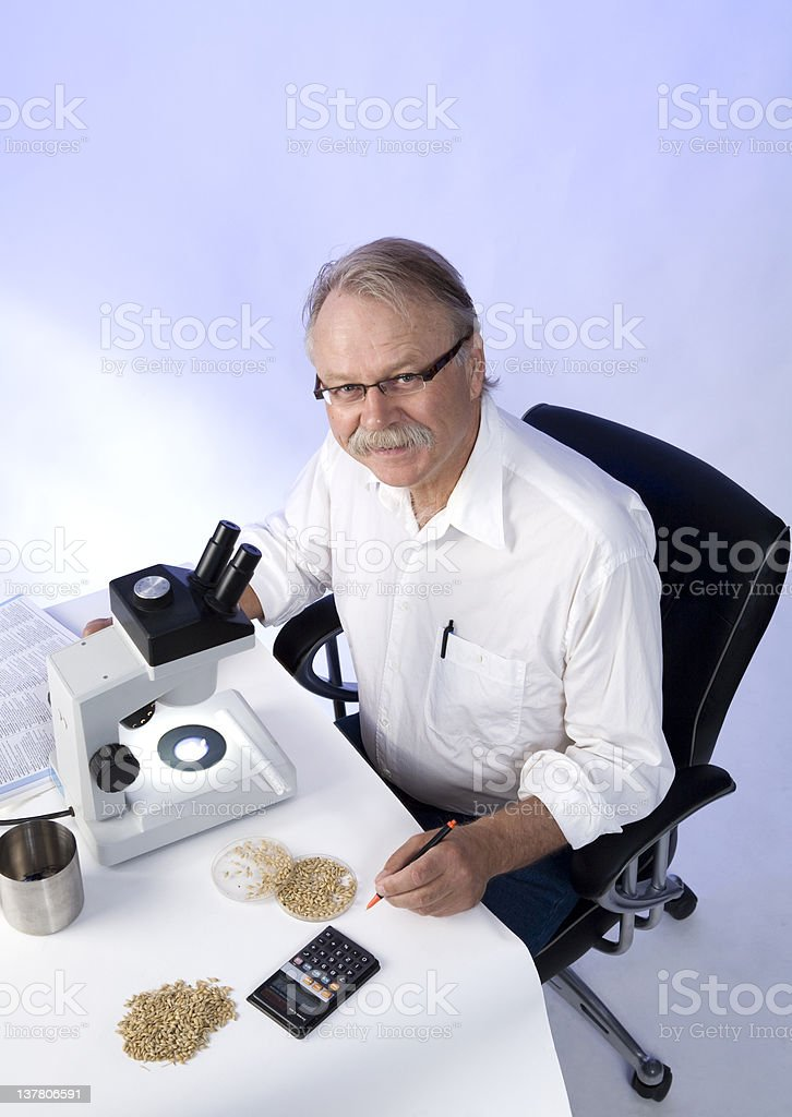 Cheerful Research royalty-free stock photo
