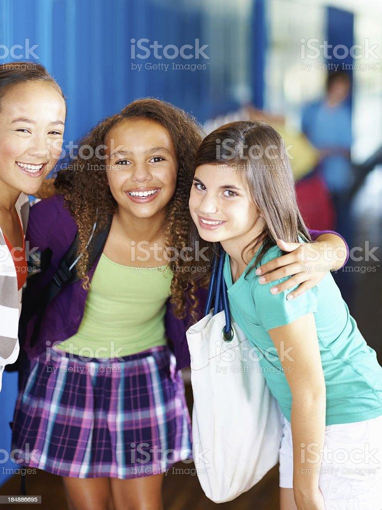 Cheerful school girls royalty-free stock photo