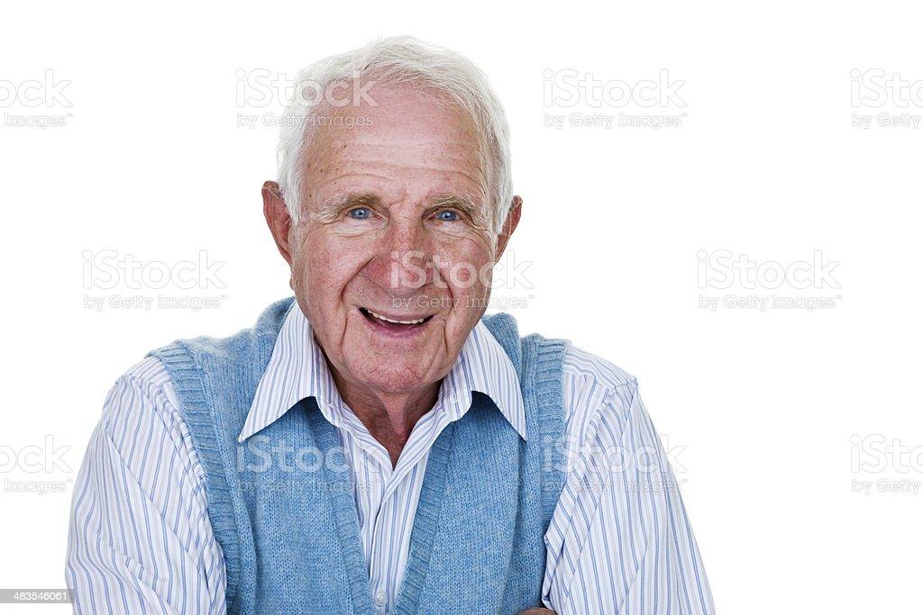 Cheerful Senior citizen stock photo