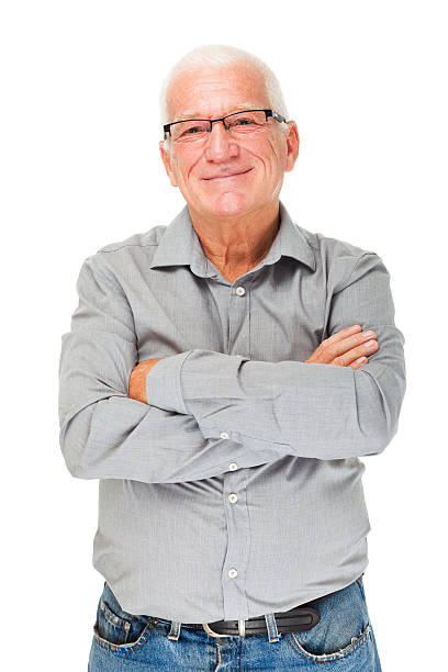 Cheerful senior man Portrait of a cheerful senior man patience stock pictures, royalty-free photos & images
