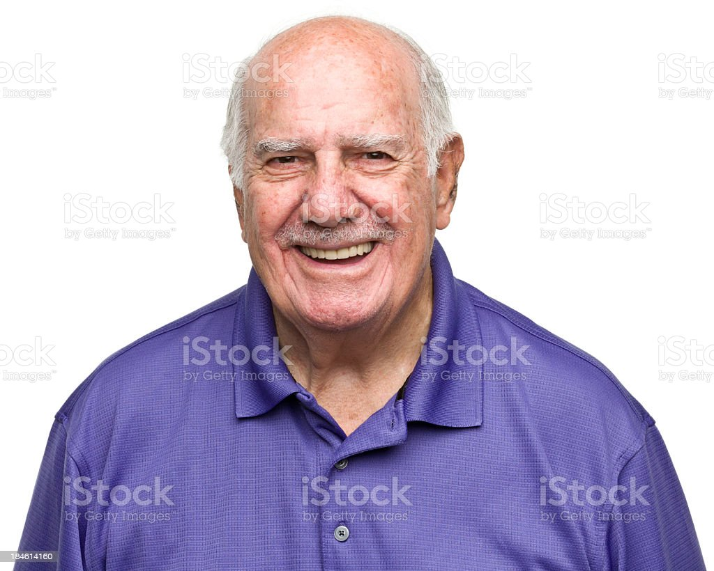 Cheerful Senior Man royalty-free stock photo