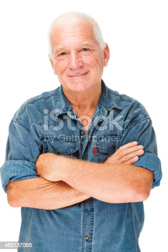 istock Cheerful senior man 483137055
