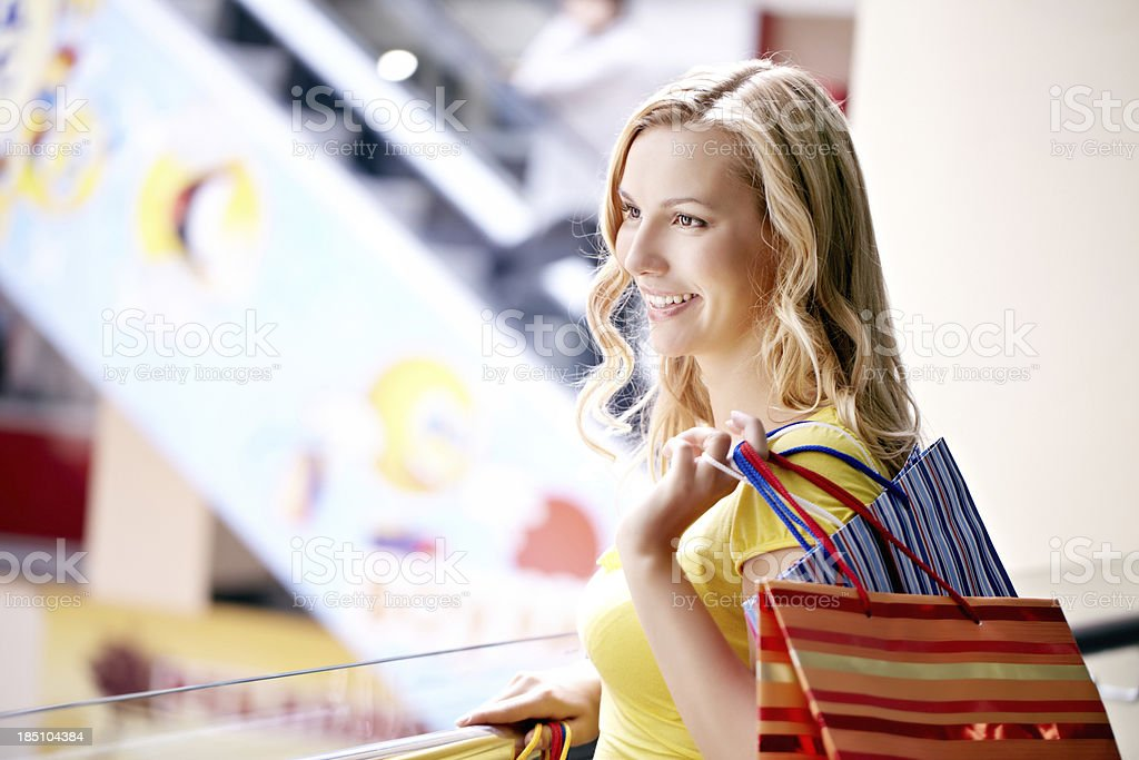 Cheerful shopper royalty-free stock photo