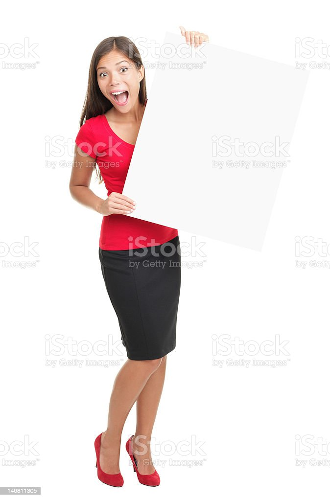 Cheerful sign woman royalty-free stock photo