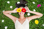 istock Cheerful spring beauty 469792411