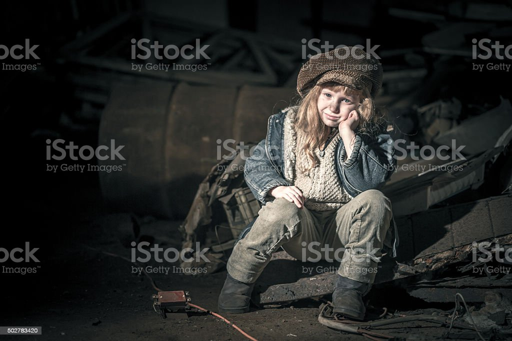 Cheerful Street Child stock photo