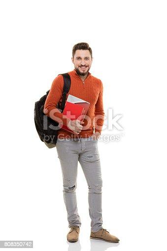 istock Cheerful student 808350742
