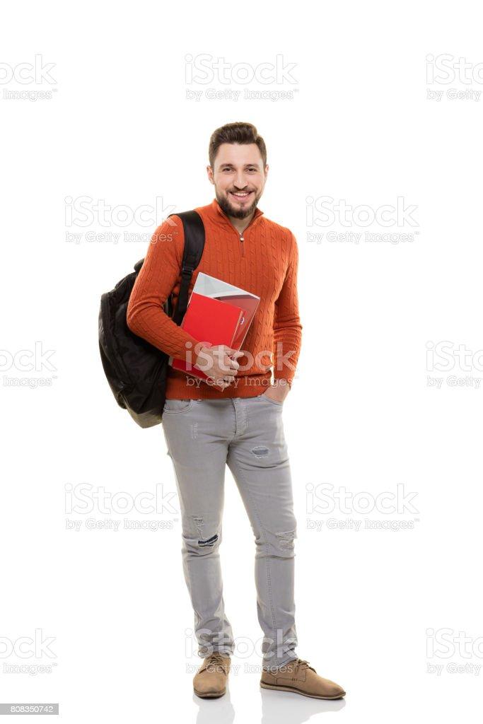 Cheerful student stock photo