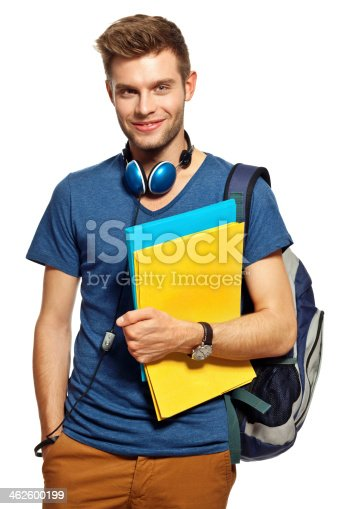 istock Cheerful student, Portrait 462600199