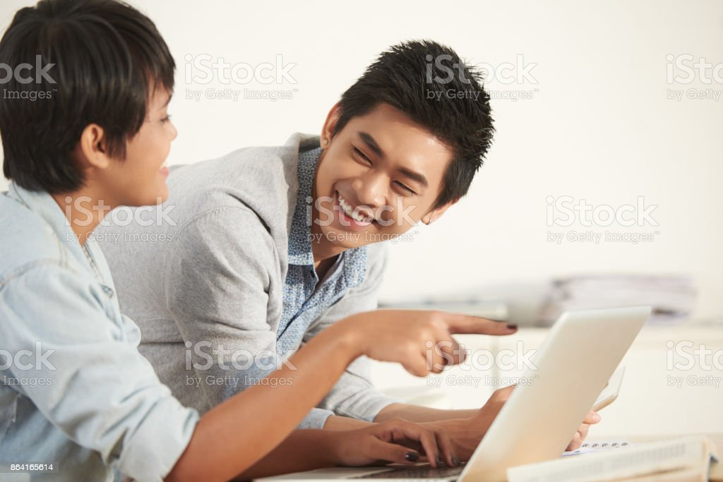 Cheerful students royalty-free stock photo
