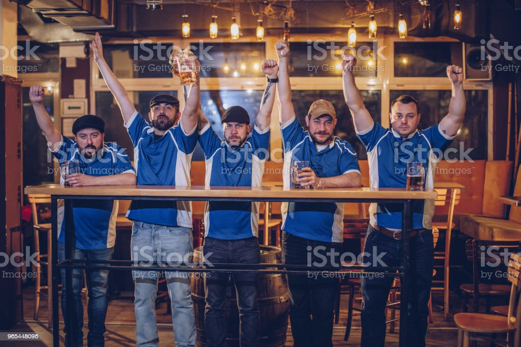 Cheerful supporters royalty-free stock photo