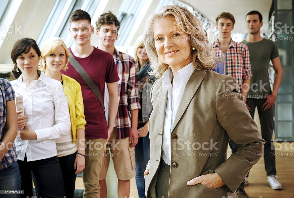 Cheerful Teacher royalty-free stock photo