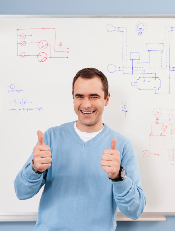 Cheerful Teacher Stock Photo - Download Image Now