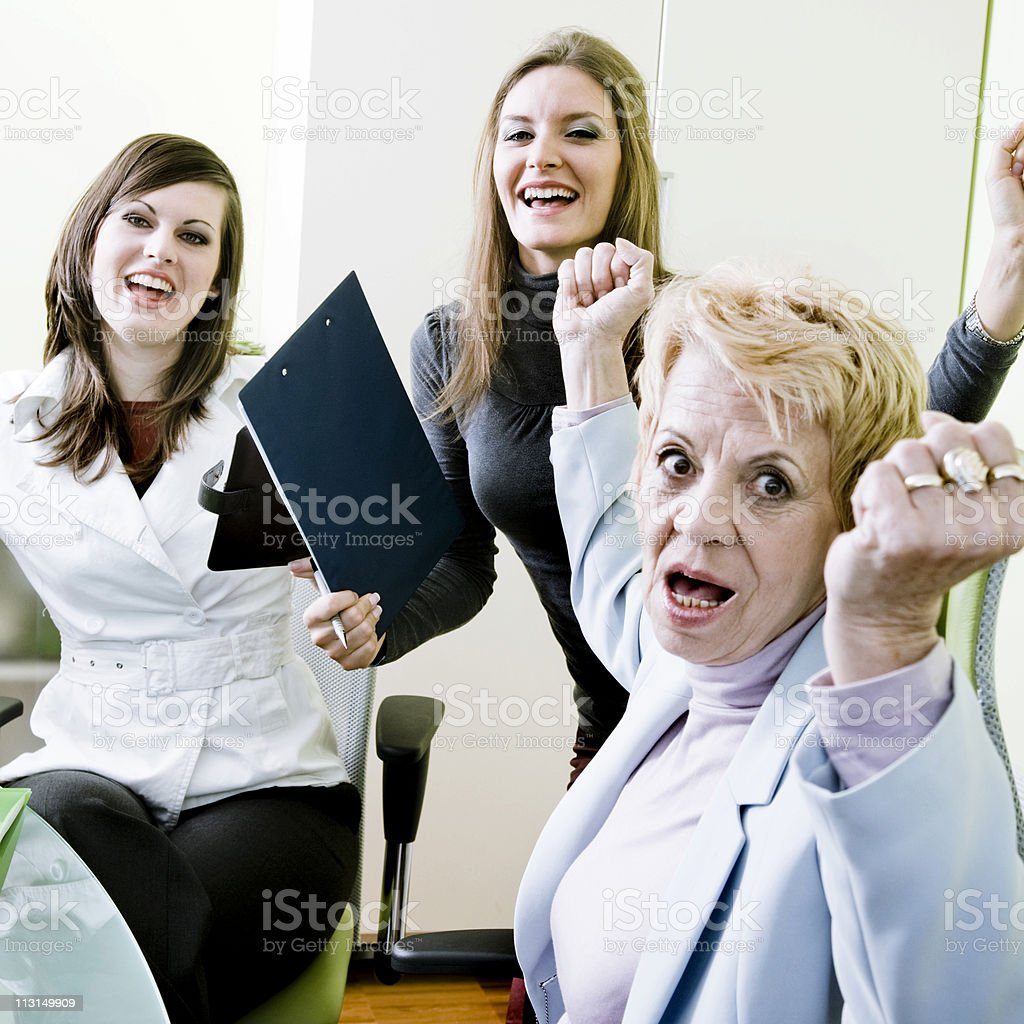 Cheerful Team royalty-free stock photo