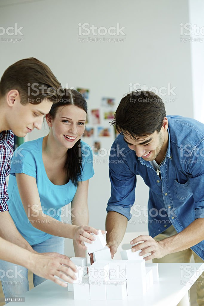 Cheerful team working royalty-free stock photo