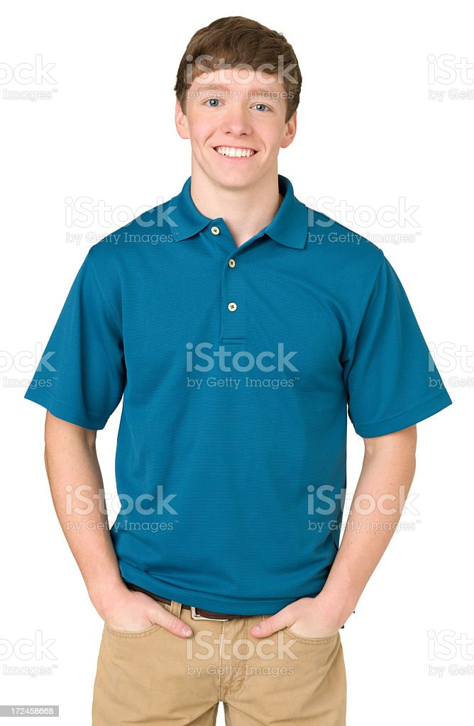 Cheerful Teenage Boy Portrait stock photo
