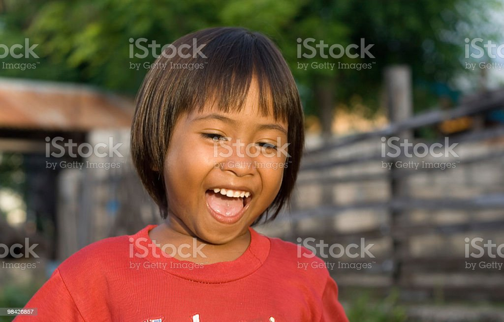 Cheerful Timorese girl from Indonesia. royalty-free stock photo