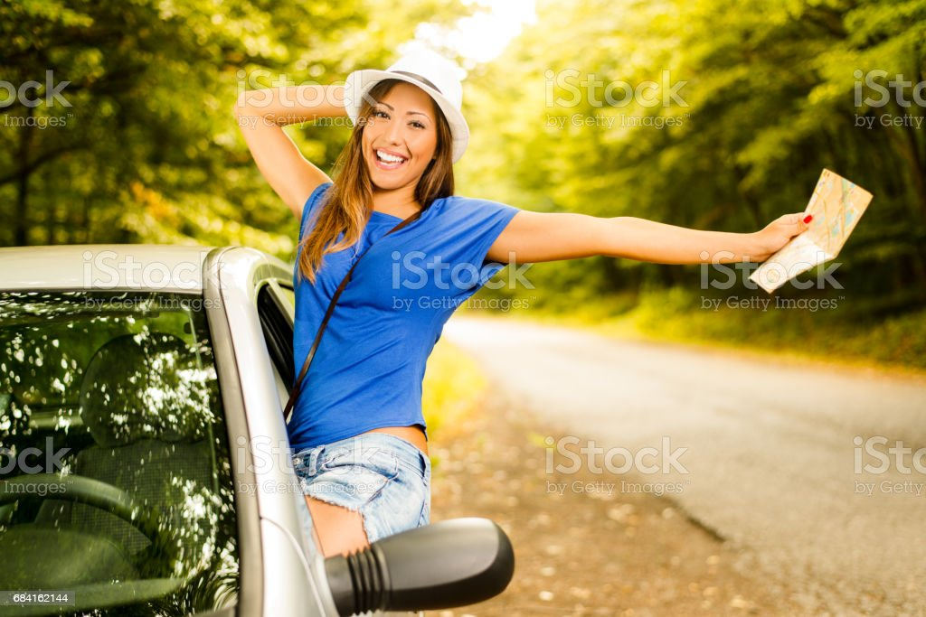 Cheerful Travel royalty-free stock photo