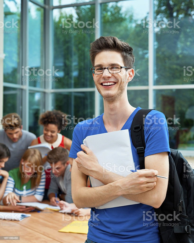 Cheerful university student royalty-free stock photo