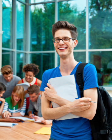 Cheerful University Student Stock Photo - Download Image Now