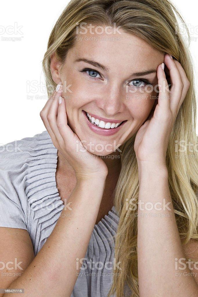 Cheerful woman royalty-free stock photo