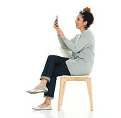 Cheerful woman using phonehttp://www.twodozendesign.info/i/1.png