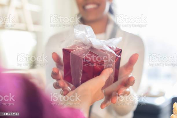 Cheerful women exchanging christmas presents picture id968606230?b=1&k=6&m=968606230&s=612x612&h=yqeivq4az1r3zkbxl8t0vn3m1fjcfpimmynyooxvjek=