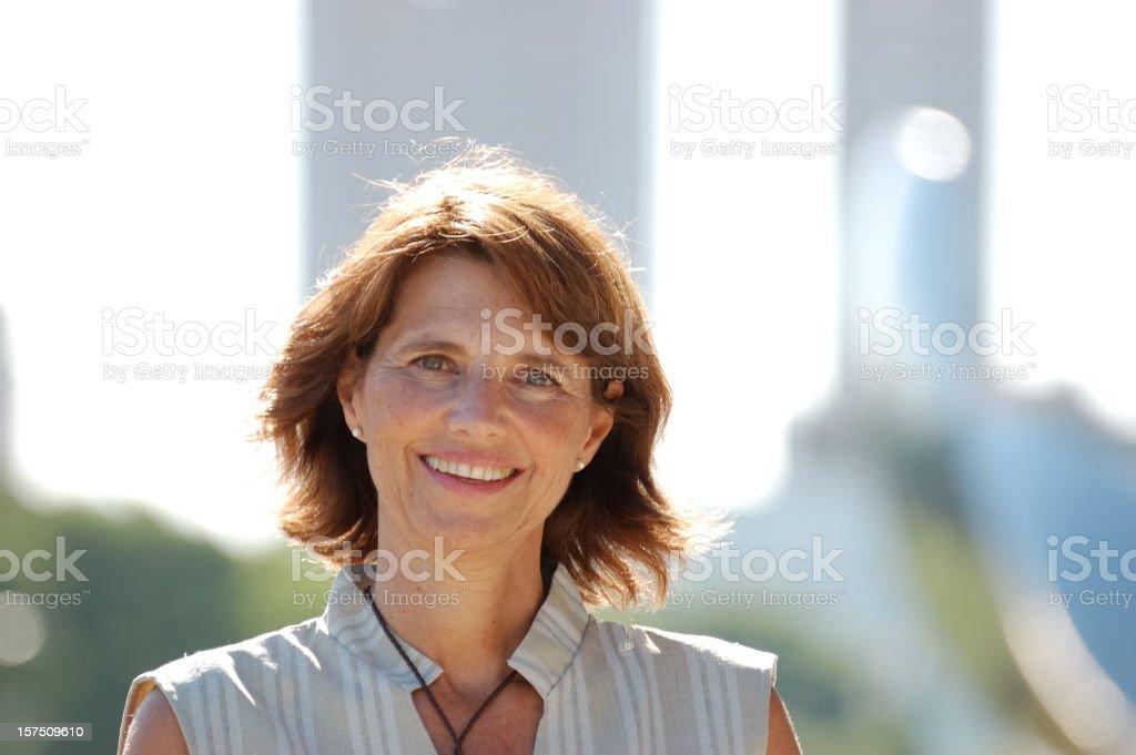 Cheerful women stock photo