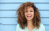 istock Cheerful young african woman smiling 186534921