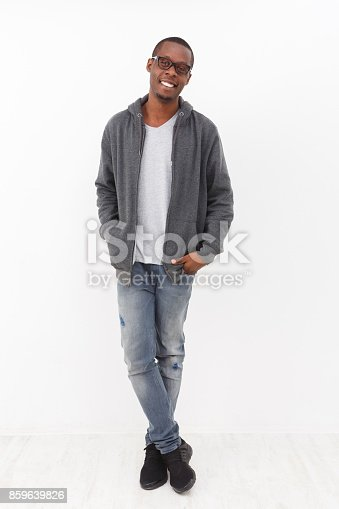 istock Cheerful young african-american man portrait 859639826