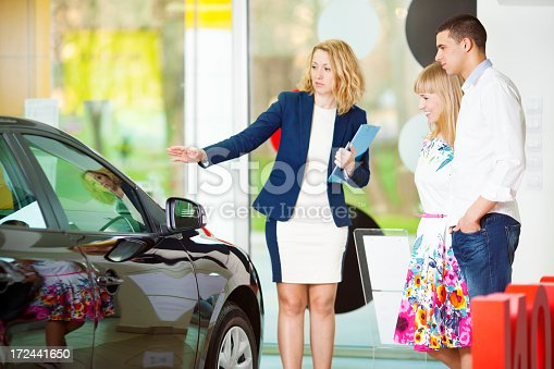 istock Cheerful Young Couple Buying Car 172441650
