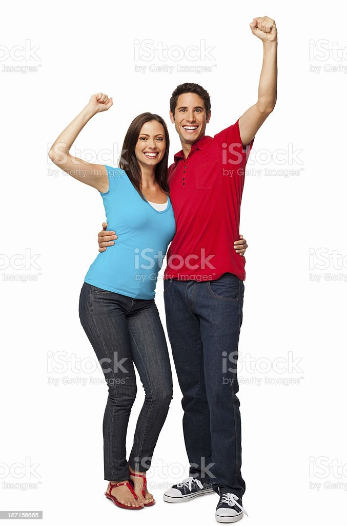Cheerful Young Couple - Isolated stock photo