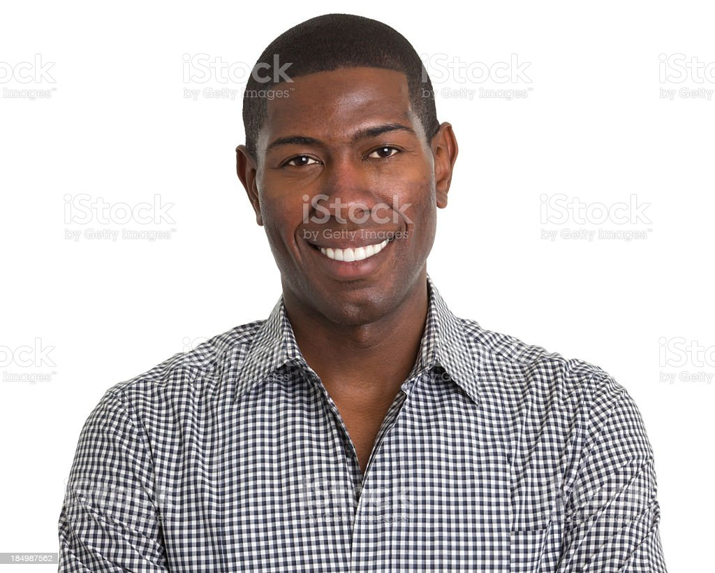 Cheerful Young Man Headshot Portrait royalty-free stock photo