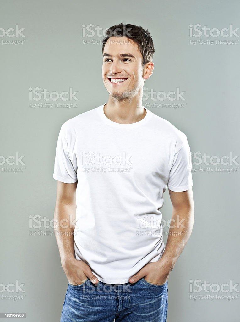 陽気な若い男性 - 1人のロイヤリティフリーストックフォト
