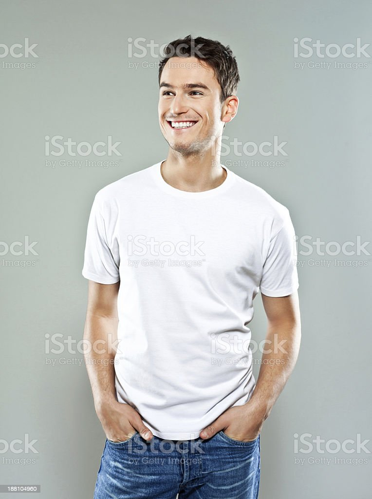 Cheerful young man stock photo
