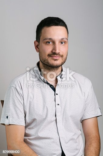 istock Cheerful young man 829668400