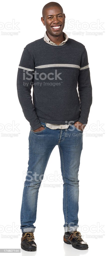 Cheerful Young Man Standing Portrait royalty-free stock photo