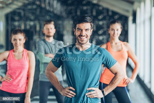 istock Cheerful young sports people 680523692