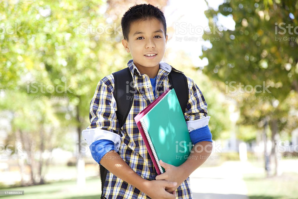 Cheerful young student royalty-free stock photo
