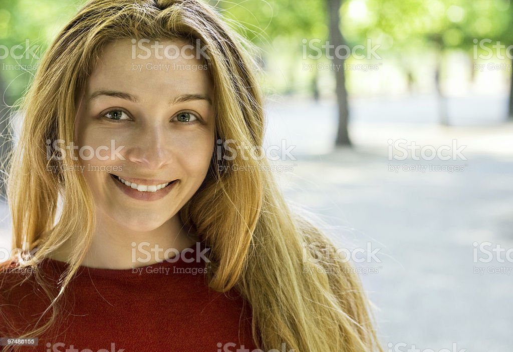 Cheerful young woman royalty-free stock photo