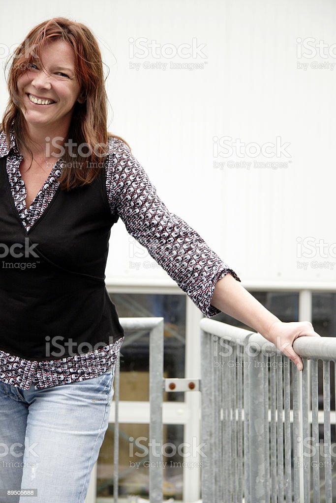 cheerfull redhead woman royalty-free stock photo