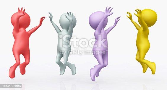 istock Cheering 3D figures 1092128586