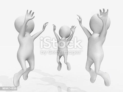 istock Cheering 3D figures 969624838