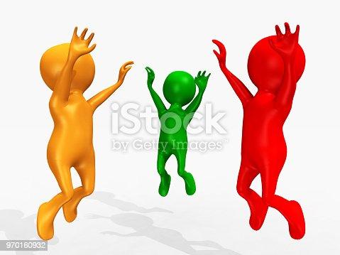 istock Cheering 3D figures 970160932