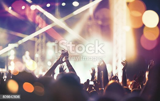 istock Cheering crowd at a concert. 826642836