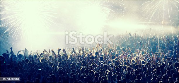 istock Cheering crowd at concert 497001330