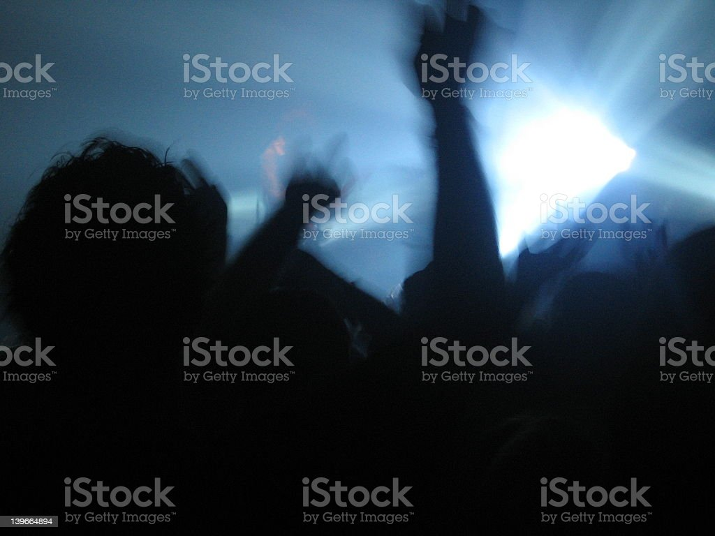 cheering fans royalty-free stock photo