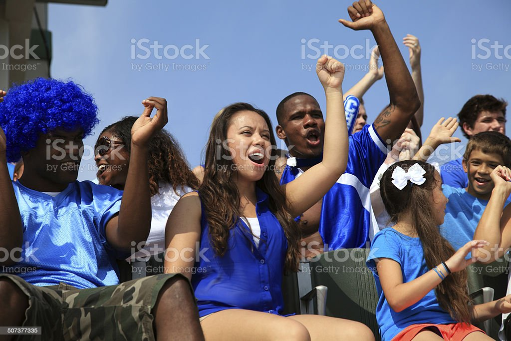 Cheering Fans stock photo