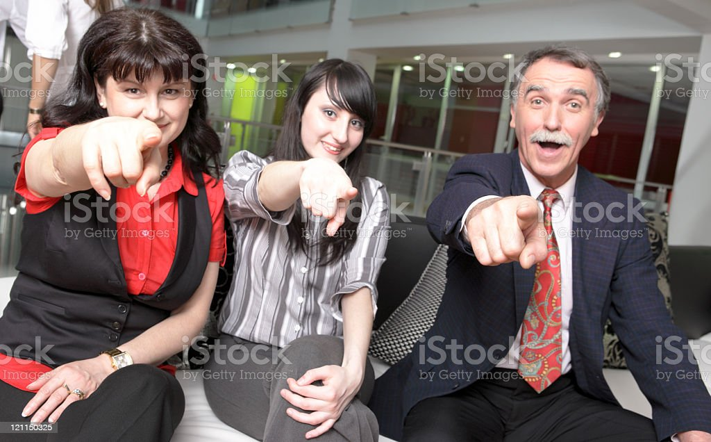 Cheering for you stock photo